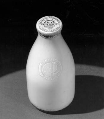 Before making the switch over to cardboard containers, Consumer-Farmer used glass bottles. They found that the new use of cardboard containers allowed them to carry more weight in milk on their trucks, thus allowing them to deliver more milk to its consumers.